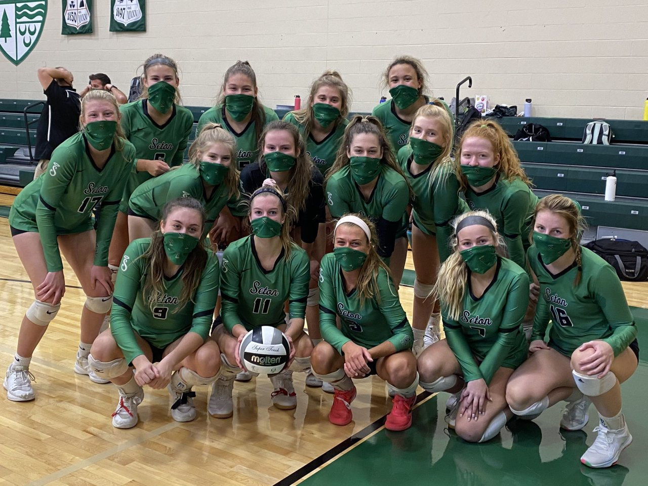 The Seton volleyball team has formed a sisterhood during this successful season