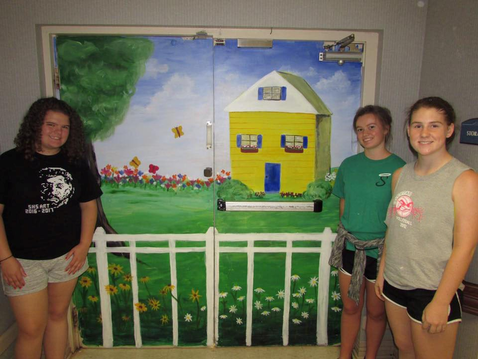 Art Student Mural at Pristine Senior Living