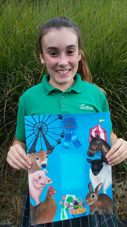 Olivia Faillace, junior, wins Harvest Home Parade Poster Contest