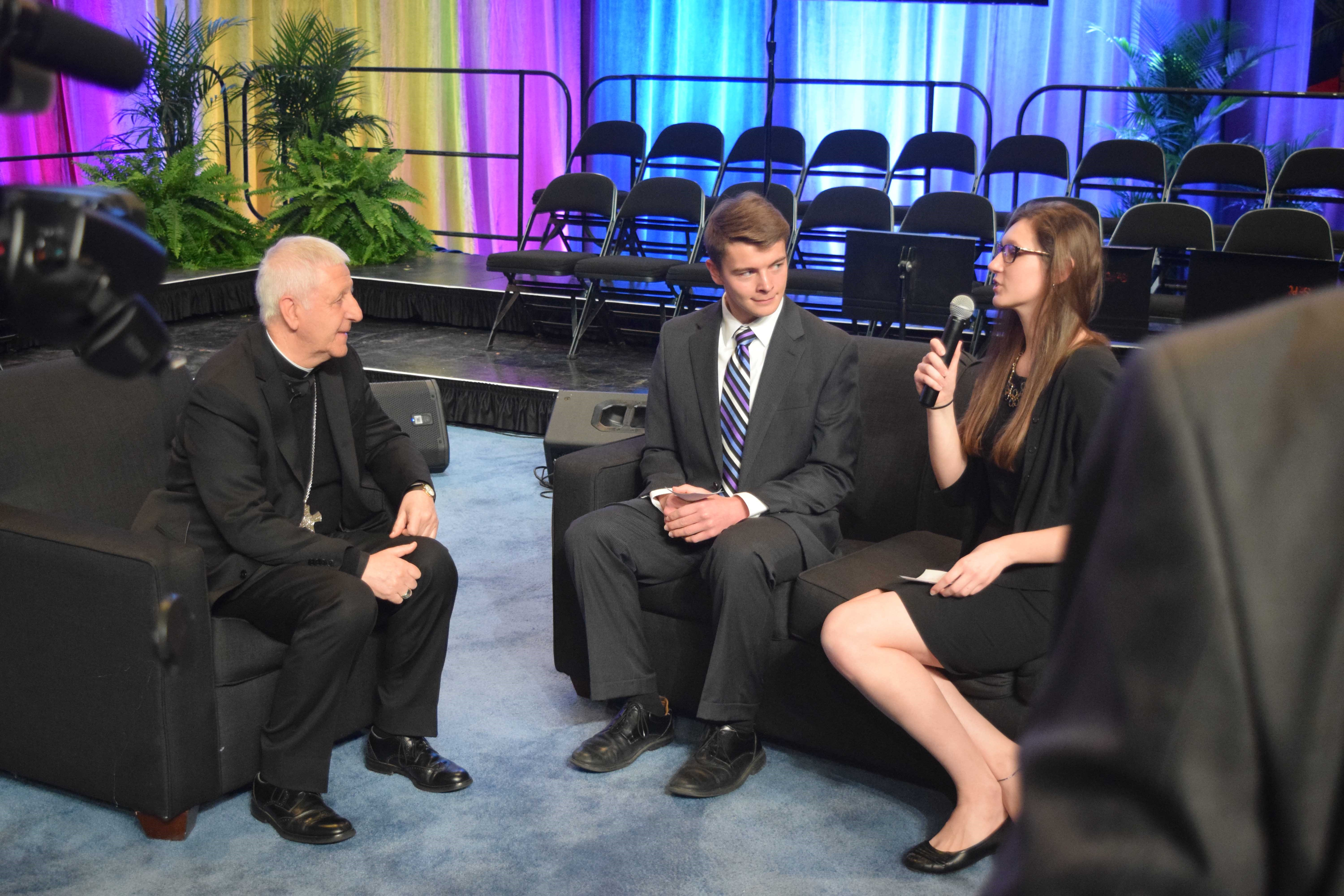 Seton and Elder students interview Cardinal Versaldi